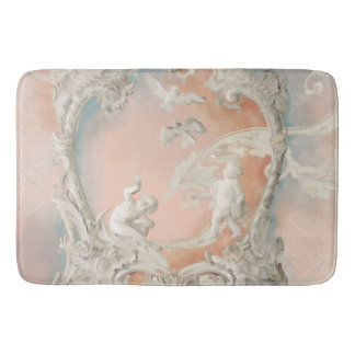 Traditional Rococo Baroque Angel Cherubs Vintage Bath Mat