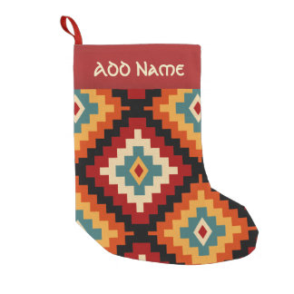 Traditional Romanian Folk Art Pattern Small Christmas Stocking
