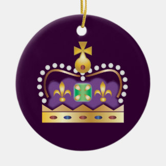 Traditional Royal Crown Christmas Ornament