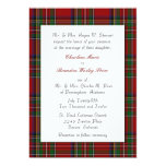 Traditional Royal Stewart Plaid Wedding Invitation
