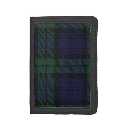 Traditional Scottish Black Watch Tartan Plaid Tri-fold Wallet