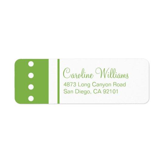 Traditional Simple Return Address Label