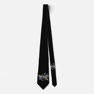 Traditional SixShooter with Blue Roses Tie