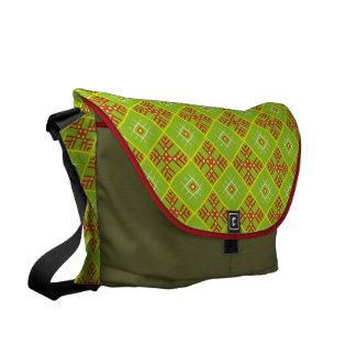 Traditional Slavic Ornaments Large Messenger Bag