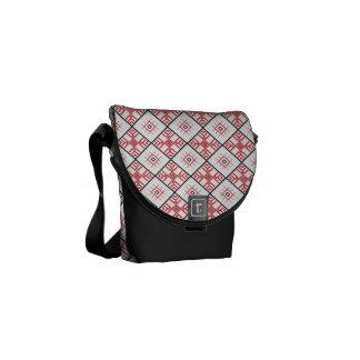 Traditional Slavic Patterns Large Messenger Bag