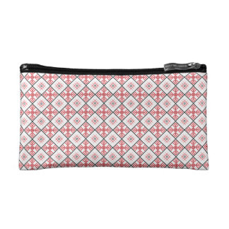Traditional Slavic Patterns Sueded Mini Clutch Cosmetic Bag