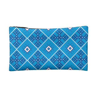 Traditional Slavonic Ornaments Sueded Mini Clutch Makeup Bags