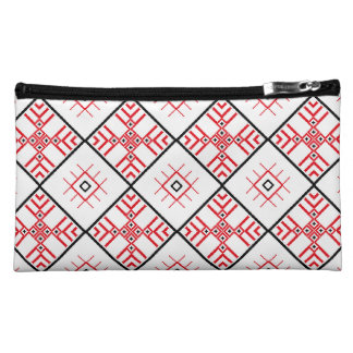 Traditional Slavonic Patterns Sueded Mini Clutch Cosmetics Bags