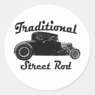Traditional Street Rod Round Sticker