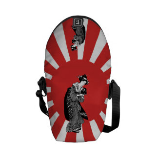 Traditional style Japanese ukiyoe woman Courier Bags