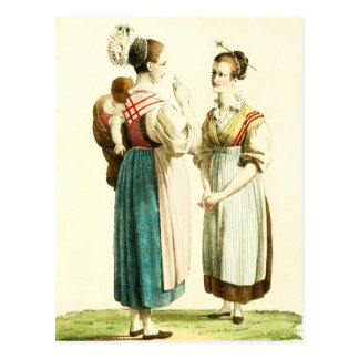 Traditional Swiss Costume of the Canton of Uri Post Cards