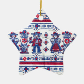 Traditional Swiss Folklore pattern Christmas Ornament