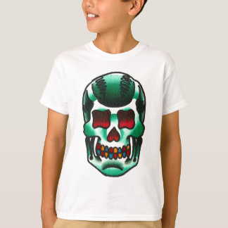 Traditional Tattoo Green Candy Skull Old School Shirts