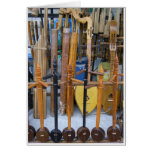 Traditional Thai Instruments Greeting Cards