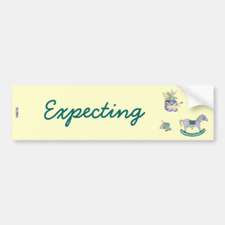 Traditional Toys/Pastel (Baby Shower) Bumper Sticker