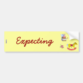 Traditional Toys/Primary Colours (Baby Shower) Bumper Sticker