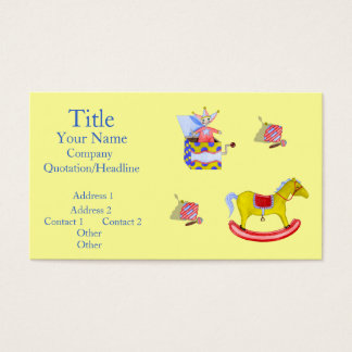 Traditional Toys/Primary Colours Business Card