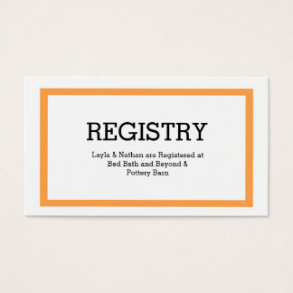 Traditional Typography Wedding Registry Card