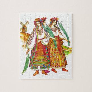Traditional Ukrainian Dress from Kyivschyna Jigsaw Puzzle