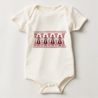 Traditional Ukrainian embroidery ukraine girls Baby Bodysuit