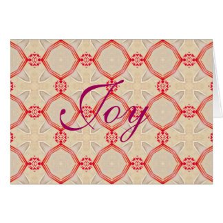 Traditional Vintage Gold Red Rings Card