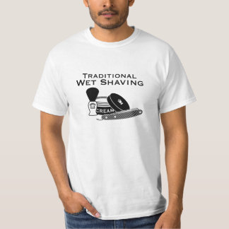 Traditional Wet Shaving Straight Razor 2 - Light T-shirt