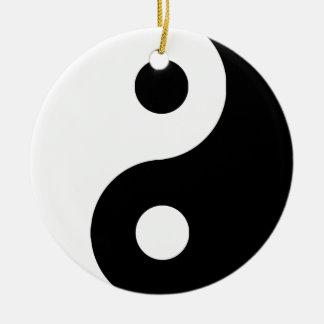 Traditional Yin Yang Round Ceramic Decoration