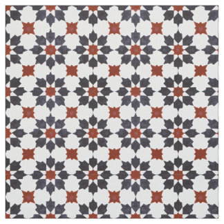 Traditional Zillij Moroccan Pattern Fabric