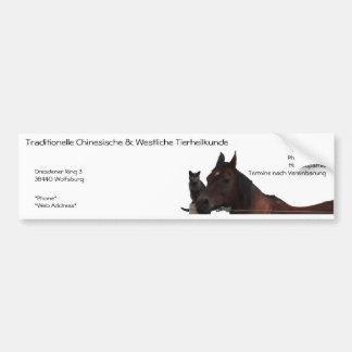 Traditionelle Chinesische & Westliche Tierheilkund Bumper Sticker