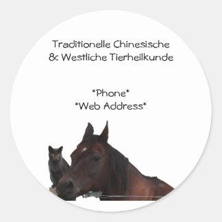 Traditionelle Chinesische & Westliche Tierheilkund Round Sticker