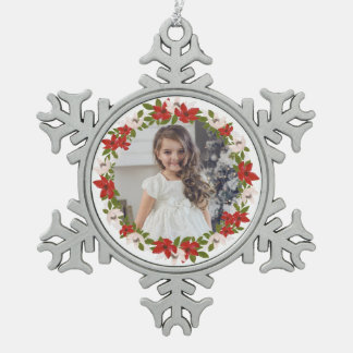 Traditions Floral Wreath in White Holiday Ornament