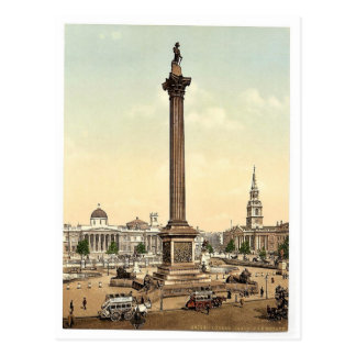 Trafalgar Square and National Gallery, London, Eng Postcards