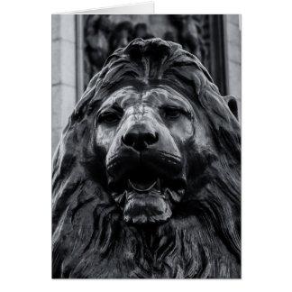 Trafalgar Square Bronze Lion card