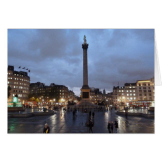 Trafalgar Square by night Greeting Card