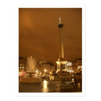 trafalgar square by night london uk post cards