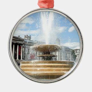 Trafalgar Square fountain London Silver-Colored Round Decoration
