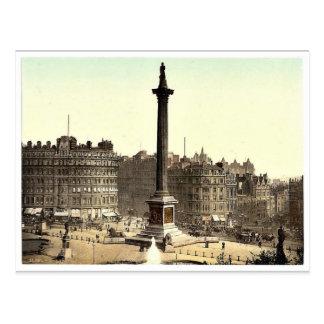 Trafalgar Square, from National Gallery, London, E Postcards