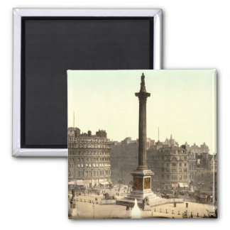 Trafalgar Square I, London, England Square Magnet