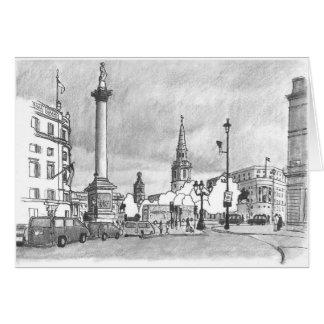 Trafalgar Square illustration card