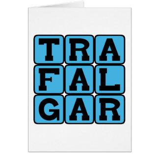 Trafalgar, Square in London Greeting Cards