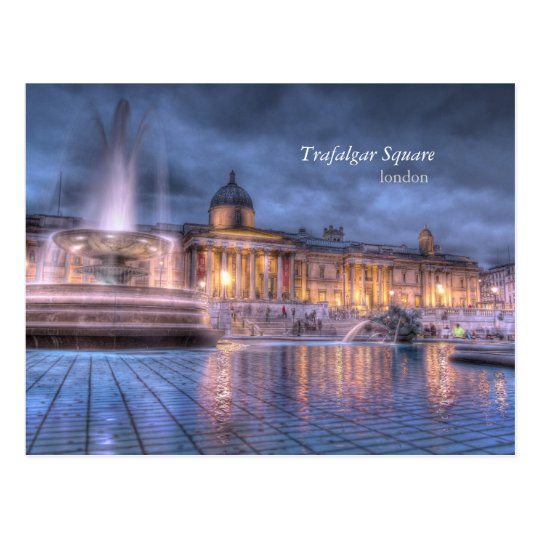 Trafalgar Square in London Postcard