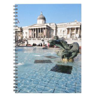 Trafalgar Square in London, UK Notebook
