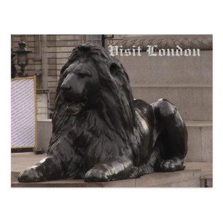 Trafalgar Square Lion Post Card