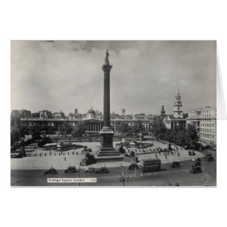 Trafalgar Square, London. Photo about 1940's Cards