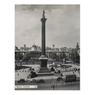 Trafalgar Square, London. Photo about 1940's Postcards
