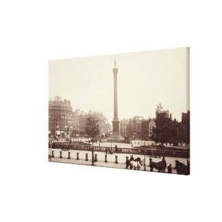 Trafalgar Square, London (sepia photo) Canvas Print