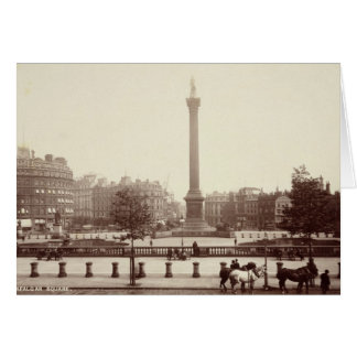 Trafalgar Square, London (sepia photo) Cards