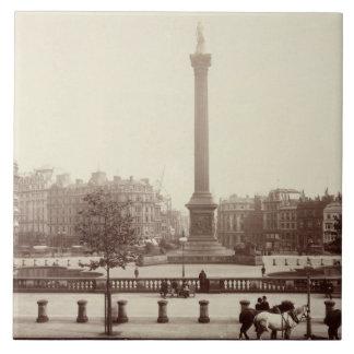 Trafalgar Square, London (sepia photo) Tile