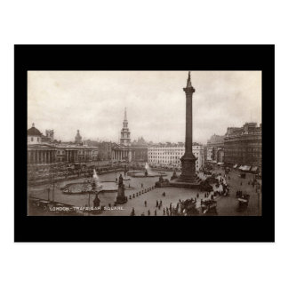 Trafalgar Square, London Vintage Postcard