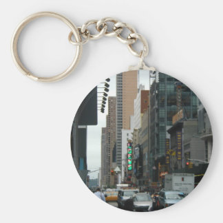 Traffic 42Nd And 7Th Ave Basic Round Button Key Ring